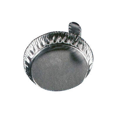 EAGLE THERMOPLASTIC Aluminum Weighing Dish,1/2 In. D,PK100, D43-100, Gray