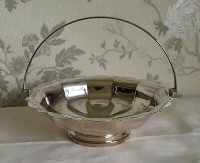 A Vintage Silver Plated Pedestal Bowl with Handle