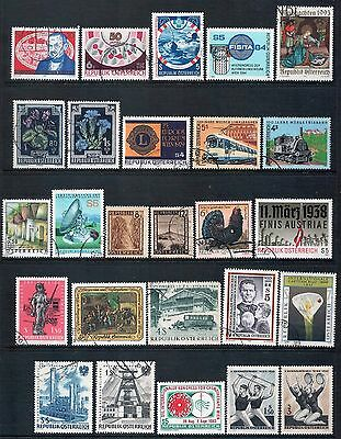 AUSTRIA - Mixed lot of 26 Stamps, most Good - Fine Used, 3 Mint, LH