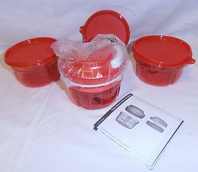 Tupperware Turbo Chef & Twin Turbo Bases & Bonus Red Mini Spatula Rrp $118+
