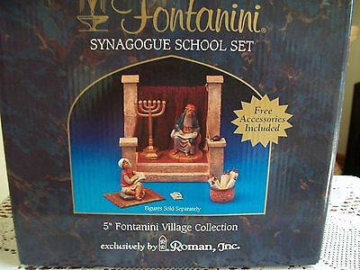 """Fontanini 5"""" Village Collection RARE RETIRED Synagogue School Displayed Twice"""