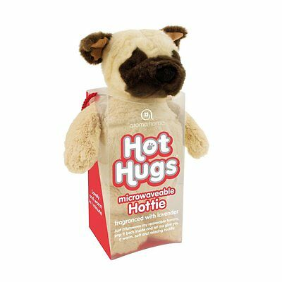 Aroma Home Hot Hugs Hottie PUG Soft Toy With Lavender Microwavable Tummy