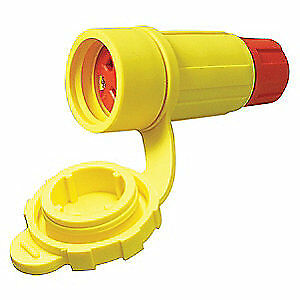 PERMAKL Thermoplastic Elastomer Connector,250VAC,30A,L15-30R,3P,4W, 2622-CW6P-AM