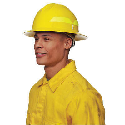 BULLARD Fire Helmet,Yellow,Full-Brim, FHYLP, Yellow