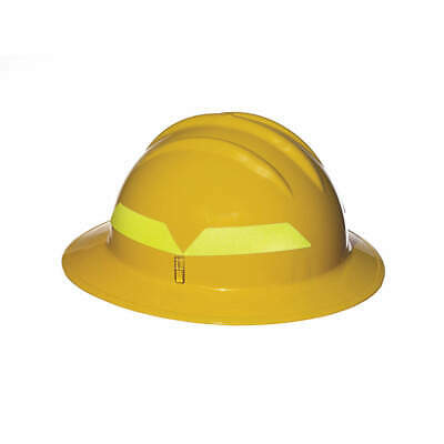 BULLARD Fire Helmet,Yellow,Full-Brim, FHYLR, Yellow