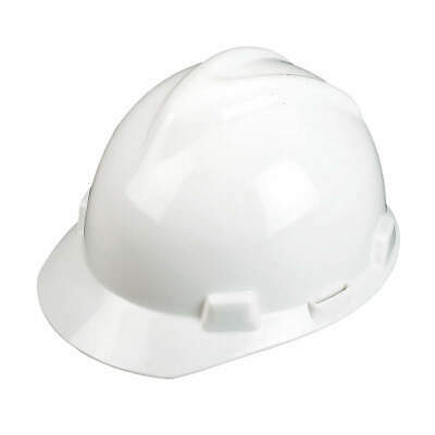 MSA Hard Hat,C, E,White,4 pt. Ratchet, 477482, White