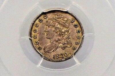1830 Capped Bust Half Dime Graded Au55 By Pcgs