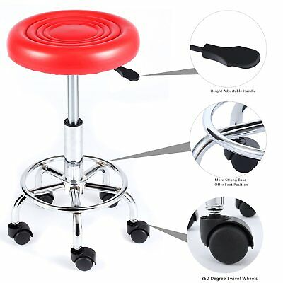 Stool Medical Doctor Office Lab Red Adjustable Professional Dental Exam Chair
