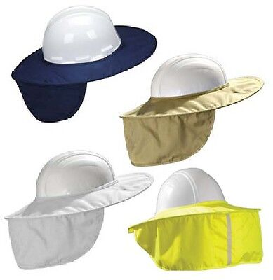 Occunomix MiraCool Stow-Away Hard Hat Sun Shade Protects Neck, Face