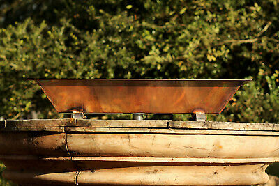 """Copper Industrial 30"""" Vintage Inspired Trough Sink Wall Mount Unsealed Copper"""