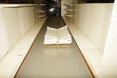 retail shelving gondola by Handy corp. 16 sections complete with shelves