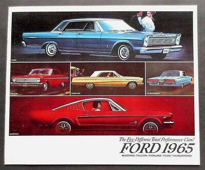 Original 1965 Ford Performance Cars Brochure~1St Mustang Fastback~16 Pages ~ F17