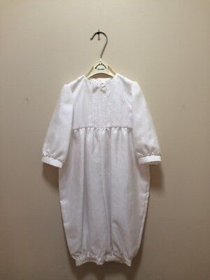 Vintage Sarah Louise Boy Christening One Piece Romper 12 Months Made In England