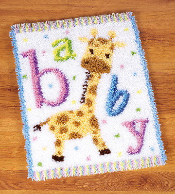 Vervaco - Latch Hook Rug Kit - Baby Giraffe II -  PN-0149292