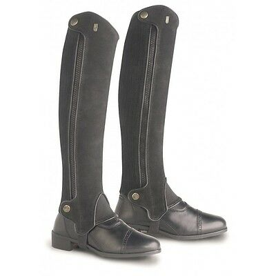 """NEW Tredstep Xtreme Suede half chaps Calf 17"""", Height 15"""" Brown or Black"""