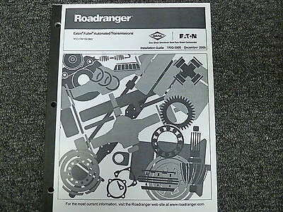 EATON FULLER RTO1X910XDM2 Transmission Shop Service Repair Installation  Manual