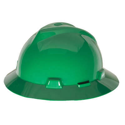 MSA Hard Hat,C, E,Green,4 pt. Ratchet, 475370, Green