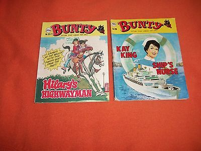 BUNTY x 2 PICTURE STORY LIBRARY BOOKS from the 1970's and 1980's