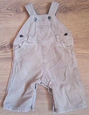 Mothercare baby trousers corduroy dungarees 0-3 months