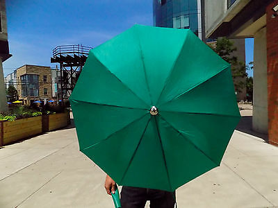 Knirps Vintage Speed-O-Matic Continental Green Umbrella w Zip Case and Org. Box!