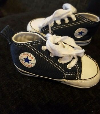 Converse All Star baby shoes size uk 2