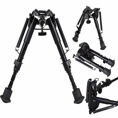"Adjustable 6"" to 9"" Legs Sniper Hunting Rifle Bipod Sling Swivel Holder Mount"