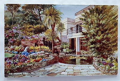 postcard of felixstowe .the dripping well