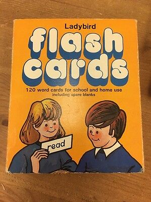 Vintage Labybird Flash Cards Children a Reading Learning