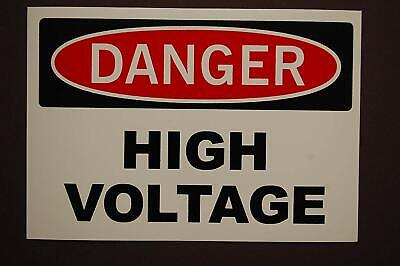 "DANGER - High Voltage Vinyl Decal Sticker Safety Label Electrical 3.5"" x5"" (490)"