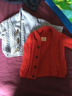Beautiful Baby Boys Cardigans 0-3 Months In Excellent Condition From Next.