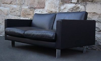 Fanuli Banc Leather 2 seater Sofa Lounge Couch