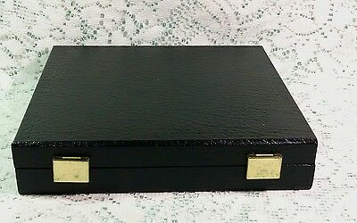 36 Slot Black Leatherette Ring Display Travel Jewelry Hinged Case
