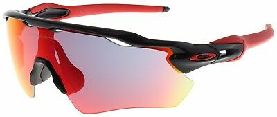 Oakley Radar EV Path Sunglasses OO9208-21 Polished Black   Positive Red  Iridium 3ac6ddece641