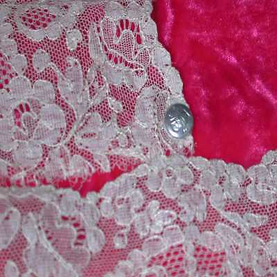 """Exquisite Antique French Alencon Lace Fabric; 8 yds x 6.5"""" (SPLITS to 16 YARDS)"""