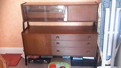 Vintage Nathan Mid Century Retro Teak Sideboard Drinks Room Divider Wall Unit