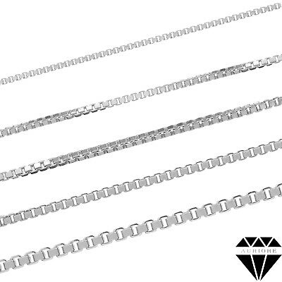 Venetian Chain Necklace - Real 925 Sterling Silver - from 16 to 30 inch