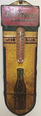 Vintage Rare Original Dr Pepper Soda Pop Advertising Thermometer 17.5 inches