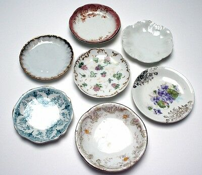 Lot of 7 Antiques Butter Pats