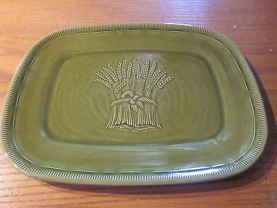 "Franciscan Wheat Winter Green 12.5"" Serving Platter"