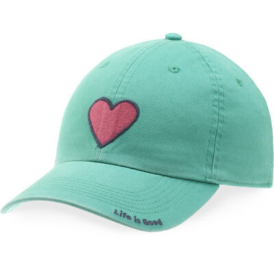 Life is Good. Kid's Chill Cap - Heart, Bright Teal (S)