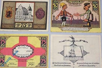 4 x Notgeld Papenburg, 2 Satz , german emergency money , M/G 1044.1 & 2, kfr/unc