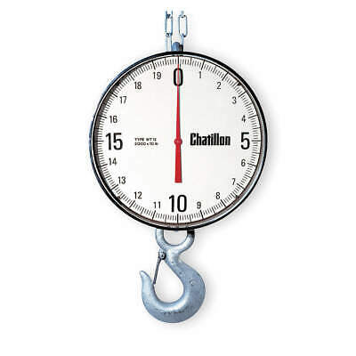 CHATILLON Dial Crane Scale,Aluminum,19-13/16 In. H, WT12-05000-EH