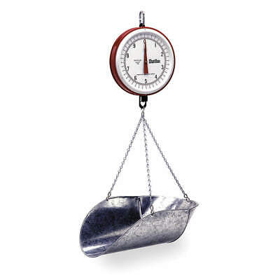 CHATILLON & SONS Mechanical Hanging Scale,Dial,7 In. H, 0720DD-T-CG