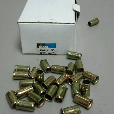 Ideal 30-411 Crimp Sleeves ( 50 Qty) Free Shipping New $19