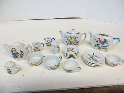 2 Sets Of Porcelain Child's Dishes One Set Germany And One Set Japan