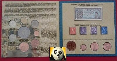 1952 2002 The Queen's Diamond Jubilee Coin Stamp Banknote Collection Pack Folder