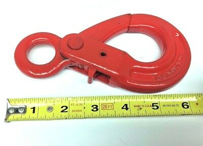 "7/8-8 G80 Eye Self Lock 6"" Safety Hook Lift Sling RIGGING 2 TON TOWING CHAIN HB"