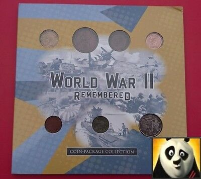 Absolutely Rare World War II WW2 Remembered Coin Stamp Banknote Pack Collection