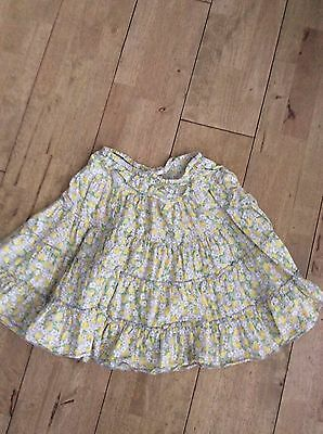 Girls Yellow Floral Skirt Mini Boden Age 9/10 Years