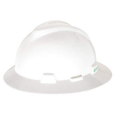 MSA Hard Hat,C, E,White,4 pt. Pinlock, 454733, White